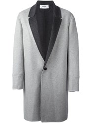 Chalayan 'Low Break' Coat Grey