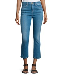 The Great The Nerd Flare Leg Cropped Jeans Scout Wash