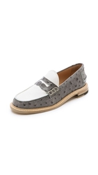 Band Of Outsiders Slipped Heel Penny Loafers Grey