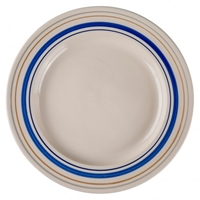 Assiette De Table 27 Cm Rayures Peintes A La Main New In Produit The Conran Shop