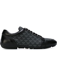 Emporio Armani Logo Panel Sneakers Black