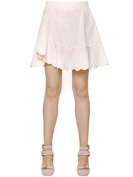 See By Chloe Scalloped Cotton Poplin Skirt
