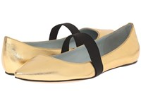 Marc Jacobs Halsey Pointy Ballerina Gold Women's Ballet Shoes