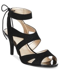 Bandolino Misilana Lace Up Sandals Black