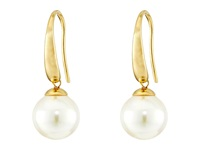 Majorica French Wire Round Pearl Drop Earrings Gold White Earring Multi