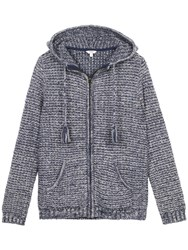 Fat Face Alice Textured Hoodie Navy