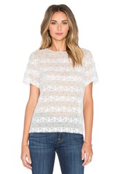Marc By Marc Jacobs Lemon Pindot Voile Top Ivory