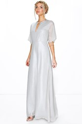 Boutique Ivy Shimmer Fabric Keyhole Maxi Dress