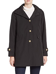Jane Post A Line Trench Coat Black