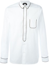 N 21 Nao21 Contrast Piped Trim Shirt White