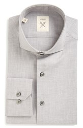 Strong Suit Men's Big And Tall 'Espirit' Trim Fit Solid Dress Shirt Grey Heather