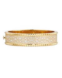 Roberto Coin Rock And Diamond Medium 18K Yellow Gold Bangle Bracelet