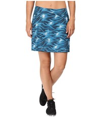 Skirt Sports Happy Girl Stargaze Print Women's Skort Blue