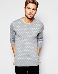 Esprit Jacquard Polka Dot Knitted Jumper Lightgrey