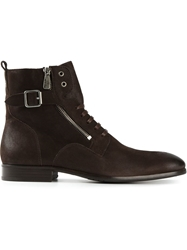 Paul And Joe Buckled Lace Up Boots Brown