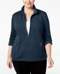 Karen Scott Plus Size Quilted Jacket Only At Macy's Intrepid Blue
