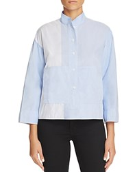 Dkny Pure Patchwork Stripe Shirt Oxford Blue