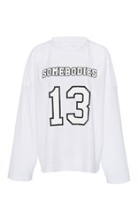 Band Of Outsiders Vermont Stripe Ice Hockey Top White