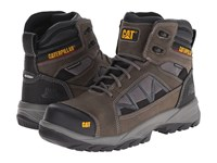 Caterpillar Compressor 6 Waterproof Soft Toe Dark Gull Grey Men's Work Boots Gray