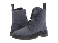 Dr. Martens Combs Fold Down Boot Graphite Grey 16Oz. Washed Canvas Kanga Boots Gray