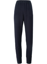 Tomas Maier High Waist Track Pants Blue