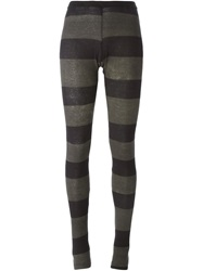Rundholz Striped Leggings Black