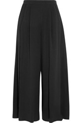 Proenza Schouler Pleated Crepe Wide Leg Pants Black