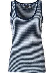 Ag Jeans Striped Tank Top Blue