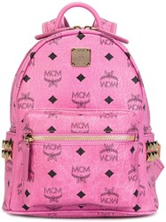 Mcm Mini 'Stark' Backpack Pink Purple