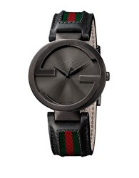 Gucci Mens Interlocking Collection Black Pvd Watch