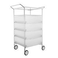 Kartell Mobil 4 Drawer Shelf And Wheels Ice