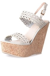 Alice And You Platform Wedge Sandals Beige