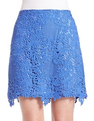 Helene Berman Scalloped Lace Skirt Periwinkle