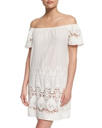 Maaji Flower Girl Embroidered Lace Woven Coverup Dress