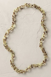 Anthropologie Tortoiseshell Links Necklace Mint