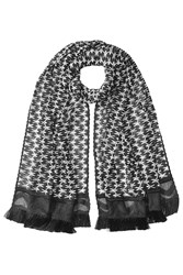 Missoni Patterned Knit Scarf With Fringe Multicolor