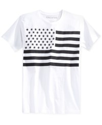 Ring Of Fire Men's American Flag Graphic Print T Shirt White