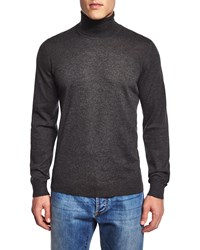 Isaia Turtleneck Long Sleeve Sweater Gray