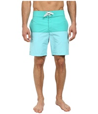 Lacoste Poplin Color Block Swim Short 8 Diabolo Green Corsica Aqua Men's Swimwear