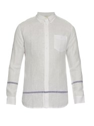 Solid And Striped The Button Down Linen Shirt Cream Multi