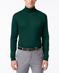 John Ashford Long Sleeve Turtleneck Interlock Shirt Dark Forest
