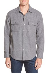Men's Wallin And Bros. 'Cpo' Shirt Jacket Grey Dark Heather