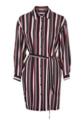 Stripe Shirt Dress By Love Multi