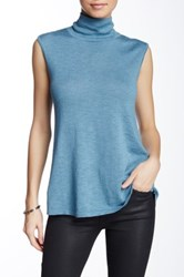 Nic Zoe Everyday Sleeveless Turtleneck Sweater Petite Blue