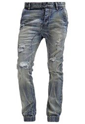 One Green Elephant Haruki Slim Fit Jeans Denim Destroyed Denim