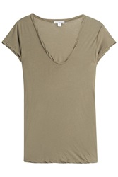 James Perse Cotton T Shirt Green