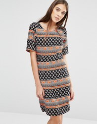 Trollied Dolly Shifty Sista Paisley Print Dress Black