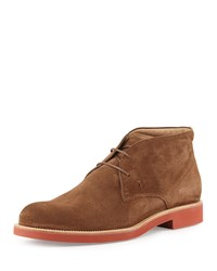 Tod's Rubber Sole Suede Chukka Boot Light Brown Size 6 Uk 7Us