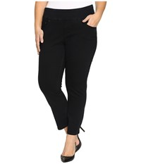Jag Jeans Plus Size Amelia Pull On Slim Ankle Comfort Denim In Black Void Black Void Women's