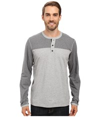 Mountain Hardwear Cragger Henley Heather Steam Men's Long Sleeve Pullover Gray